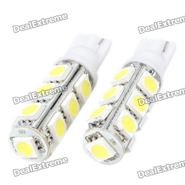 T10 4W 130LM 13x5050 SMD LED Car White Light Bulbs (Pair)