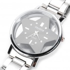 DayBird Star Style Stainless Steel Quartz Wrist Watch - Silver (1 x LR626)