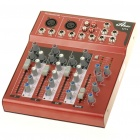 Professional Mini 4-Channel Sound Mixer - Red (230V/2-Flat-Pin Plug)