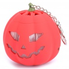USB Rechargeable Cute Pumpkin Portable Music Speaker Keychain with TF Slot - Red