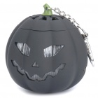USB Rechargeable Cute Pumpkin Portable Music Speaker Keychain with TF Slot - Black