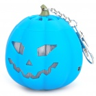 USB Rechargeable Cute Pumpkin Portable Music Speaker Keychain with TF Slot - Blue
