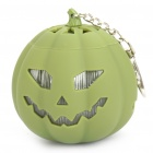 USB Rechargeable Cute Pumpkin Portable Music Speaker Keychain with TF Slot - Green