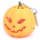 USB Rechargeable Cute Pumpkin Portable Music Speaker Keychain with TF Slot - Orange