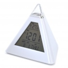 Pyramid Style Alarm Clock + Thermometer (3 x AAA)
