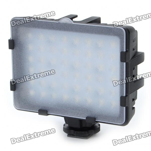 48-LED White Video Light with 2 Filters for Camera/Camcorder (2 x AA)