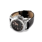 Stainless Steel Automatic Mechanical Waterproof Wrist Watch - Silver + Black