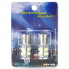 S25 2.6W 130LM 13x5050 SMD LED White Light Car Brake/Turning/Reverse Light Bulbs (Pair)