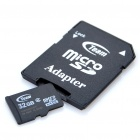 Genuine Team Group Micro SD/TF/SDHC Card with SD Card Adapter (32GB/Class 4)