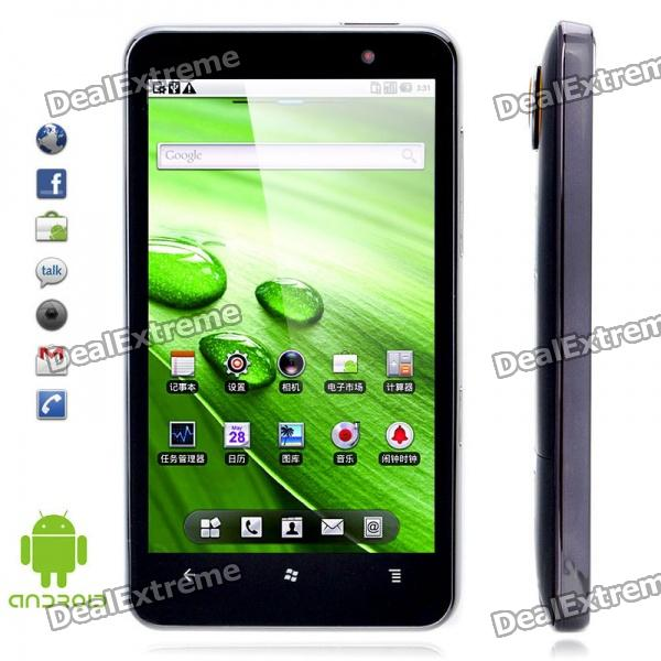"H7000 4.3"" Capacitive Android 2.2 Dual SIM Quadband WCDMA GSM Cell Phone w/ GPS/Wi-Fi"