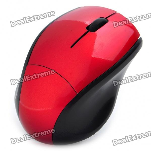 2.4GHz Wireless 800DPI USB Optical Mouse w/ Receiver - Red + Black (1 x AAA)