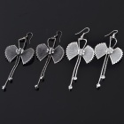 Fashion Butterfly Tie Style Earring - Color Assorted (2 Pair Pack)