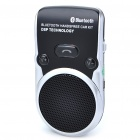Solar Powered Panel Rechargeable Bluetooth 3.0 Speakerphone Handsfree Car Kit