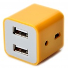 Fashion Compact High Speed ​​USB 2.0 4-Port Hub - Yellow