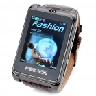 "S9110 1.8"" Touch Screen Wrist Watch Style Quadband GSM Cell Phone w/ FM - Coffee"
