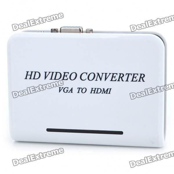 VGA Audio Input HDMI Output Converter - White
