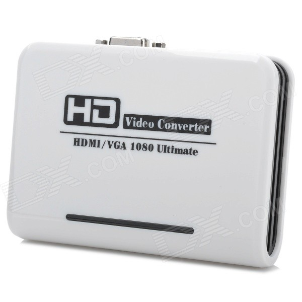 HDMI Input VGA Video Output Converter - White