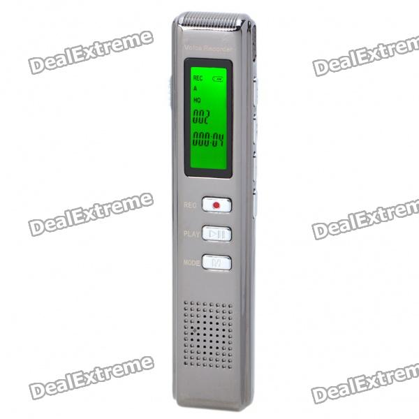 "0.9"" LCD Digital USB Rechargeable Voice Recorder w/ MP3 Player (4GB)"