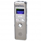 "0.8"" LCD Digital USB Rechargeable Voice Recorder w/ MP3 Player / FM (2GB)"