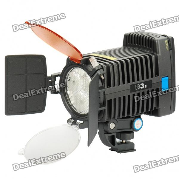3-LED White Video Light with 2 Filters for Camera/Camcorder
