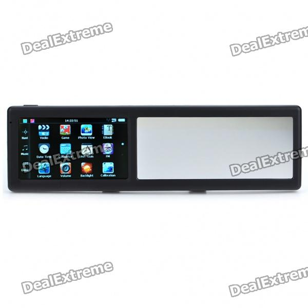 "4.3"" Touch Screen WinCE 5.0 GPS Navigator Rearview Mirror w/ AV-In / FM / 2GB Europe Maps TF Card"