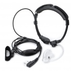 3.5mm + 2.5mm Retractable Throat Vibration Finger PPT Acoustic Tube Earphone + Mic for Kenwood