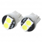 T10 1W 6000K 20-Lumen 2x5050 SMD LED White Car Light Bulbs (Pair / DC 12V)