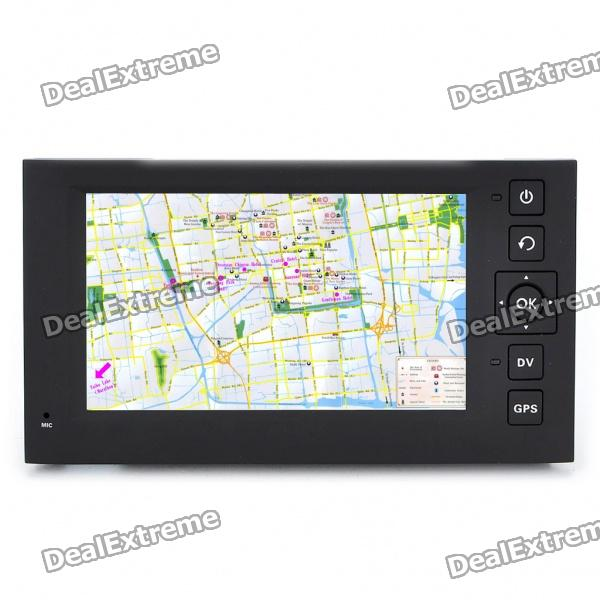 2-in-1 4.3 Touch Screen Win CE GPS Navigator + 3MP CMOS Digital Car DVR Camcorder w/ TF - Black корпус in win pe689bl 600w black