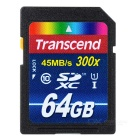 Genuine Transcend SDXC SD Memory Card - 64GB (Class 10)