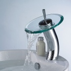 Stylish Glass Vessel Waterfall Faucet