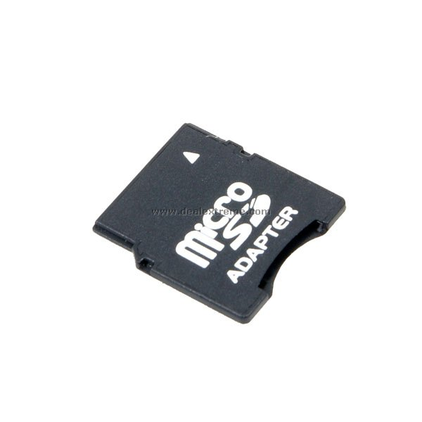 microsd transflash tf card to mini sd card adapter black free shipping dealextreme. Black Bedroom Furniture Sets. Home Design Ideas