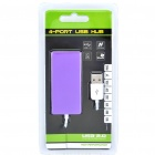 High Speed USB 2.0 4-Port Hub - Green + Purple