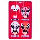 Cool Beijing Opera Facial Masks Style Card Style USB Flash Drive - Red (2GB)