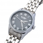 Stylish Stainless Steel Quartz Wrist Watch - Black + Silver (1 x LR626)