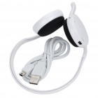 Stylish Sporty Bluetooth 2.1 Stereo Handsfree Headset - White (10-Hour Talk/10-Day Standby)