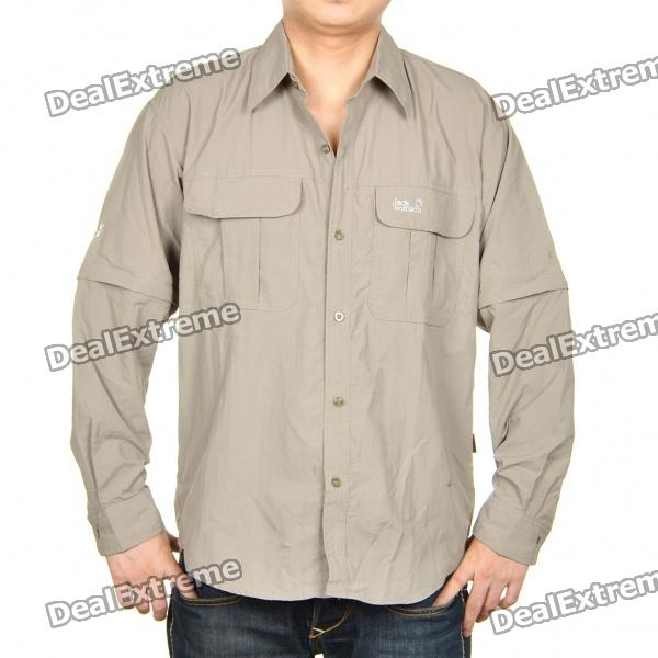 Fashion Quick-Dry Sun Protective Shirt with Removable Sleeves (Size XXL)