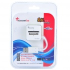 Stylish USB 2.0 XD/SD/MS/M2/TF SDHC Card Reader - White + Green (Max. 32 GB)