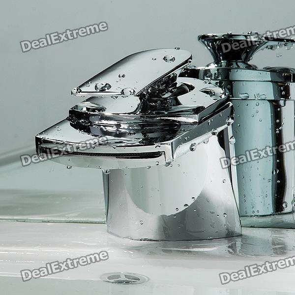 Contemporary Waterfall Chrome Bathroom Faucet