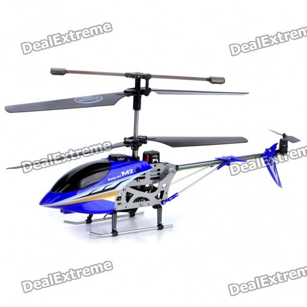 M2 Rechargeable 3.5-CH R/C Helicopter with Gyroscope - Blue (Radio Control/6 x AA)