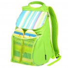 Fashion Beach Cooler Bag Ice Bag Backpack with Straw Mat & Slippers - Green