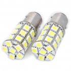 S25 5.4W 6000K 270LM 27x5050 SMD LED Car Brake/Turning/Reverse White Light Bulbs - Pair (DC 12V)
