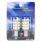 S25 5.4W 6000K 270LM 27x5050 SMD LED Car Frein / Turning / Reverse Ampoules Blanches - Paire (DC 12V)