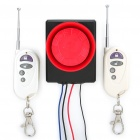Vibration Activated 110dB Electric Bike Anti-Theft Security Alarm w/ Remote Controller
