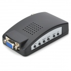 CCTV Composite + S-Video VGA BNC to VGA Converter Adapter