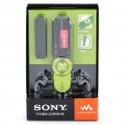 "Genuine SONY WALKMAN 0.8"" LCD USB Rechargeable MP3 Player w/ FM/Mic - Green (2GB)"
