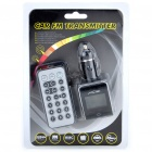 "1.4"" LCD Car MP3 Player FM Transmitter w/ Remote Controller/SD/MMC/USB - Black"