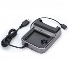 USB Charging Cradle + EU Plug AC Power Adapter for Sony Ericsson X12 - Black