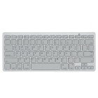 Compact 78-Key Slim Portable Bluetooth Wireless QWERTY Keyboard for iPad/iPhone (2 x AAA)