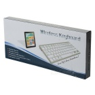Slim Portátil Bluetooth Wireless Keyboard QWERTY 78-Key Compact para iPad / iPhone (2 x AAA)