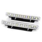 8W 6700K 90-Lumen 8-LED White Daytime Running Lamps for Car (Pair / DC 12V)